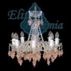 L120/8/62 rosa люстра хрустальная Elite Bohemia