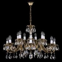 Чешская литая люстра Art Glass VIKTORIE XVI. brass antique