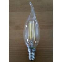 Светодиодная лампа свеча на ветру, теплый свет